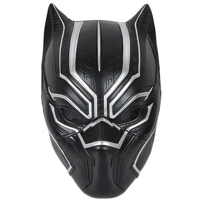 万圣节恐怖面具 整蛊搞怪系列 复仇者联盟黑豹面具 乳胶头套