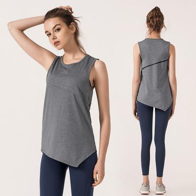 2019春夏新款不规则瑜伽背心女纯色女士运动健身打底背心厂家直销
