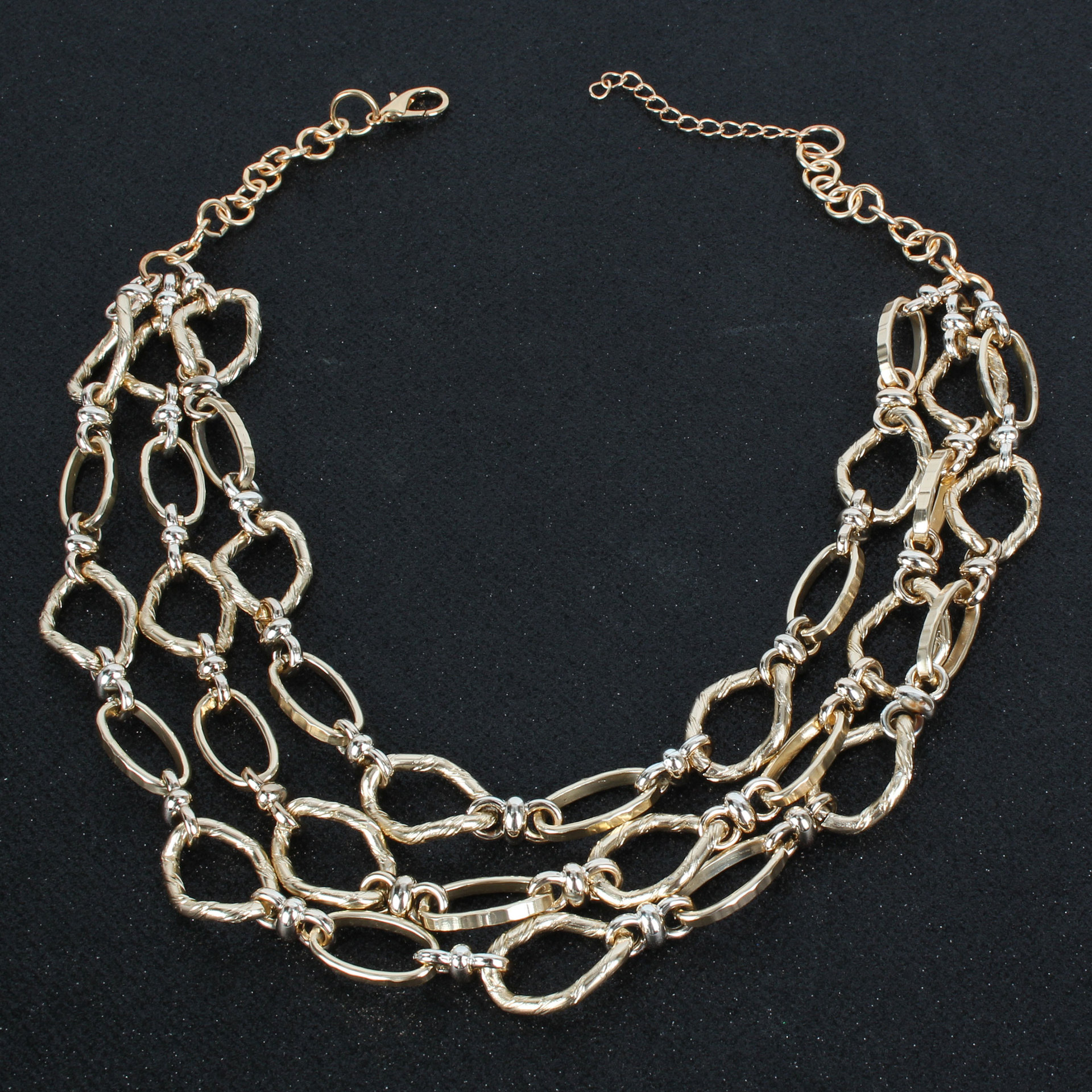 Womens Geometry Fashion multilayer  Electroplated Aluminum Necklaces CT190505120168