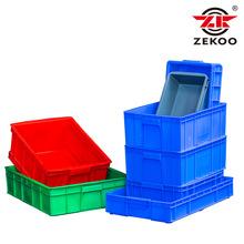 塑料筐餐具消毒洗碗专用周转箱带盖加厚可堆码式物料零件工具胶筐