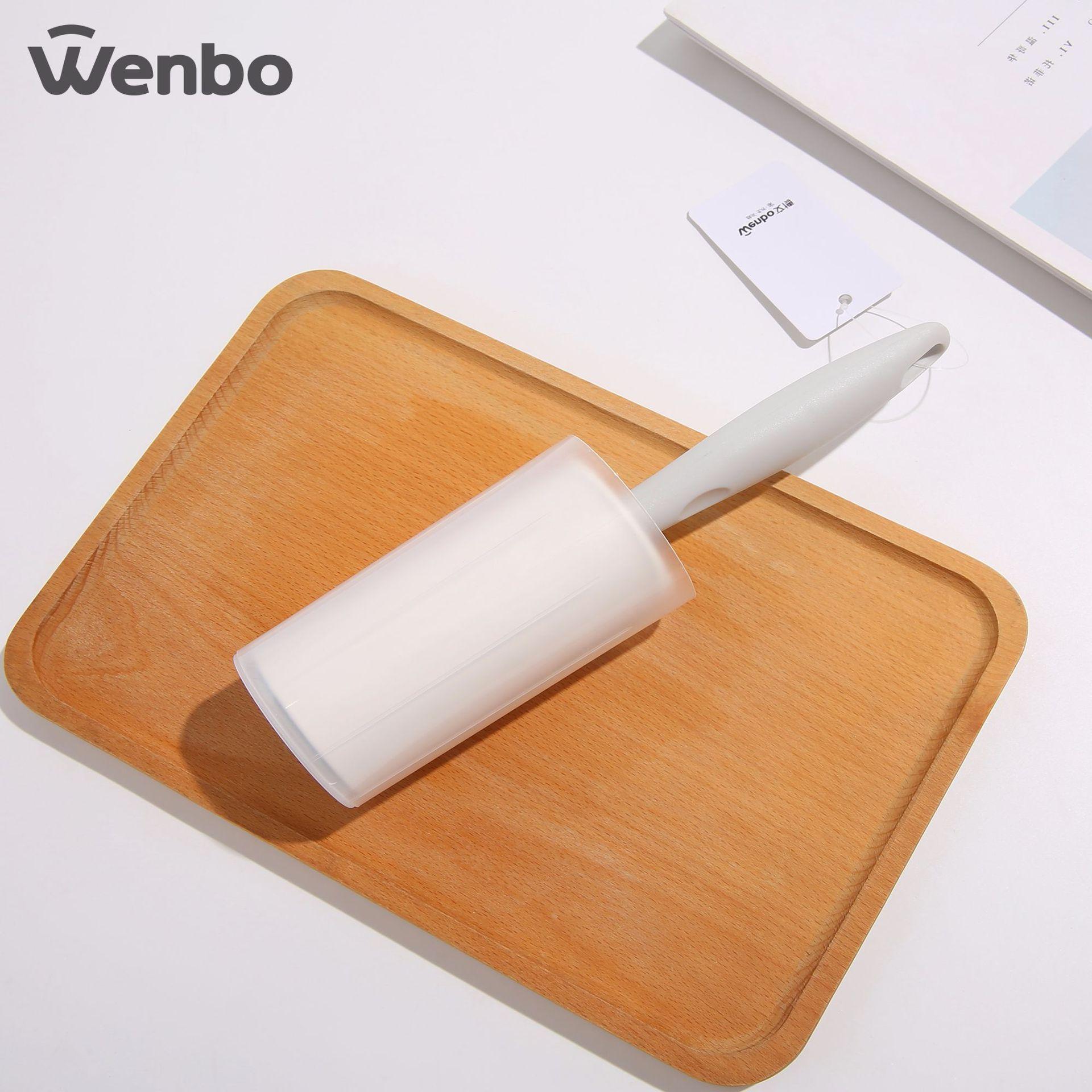 文博直杆圆桶粘尘纸粘毛器60撕  可挂斜撕粘毛器粘毛滚直筒粘尘纸