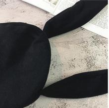 兔耳朵韓系造型秋冬毛呢貝雷帽日系小清新休閑貝雷帽潮流時商潮流