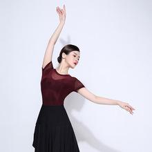 新款广场舞服装套装夏季瑜伽舞蹈服短袖上衣大摆裙拉丁舞演出服女