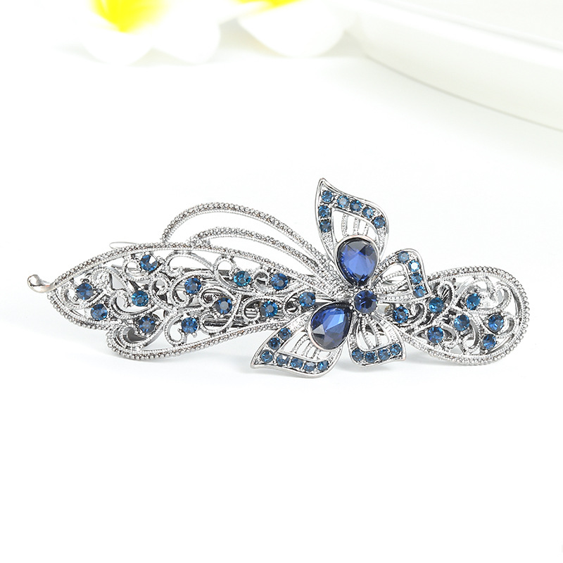 Womens Butterfly Flower Plating Alloy Hair Accessories NHNZ129548