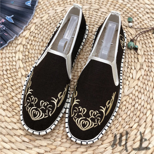 Wushu chinese kung fu shoes for male Yunnan Dali ethnic style old Beijing Melaleuca sole embroidered men's shoes