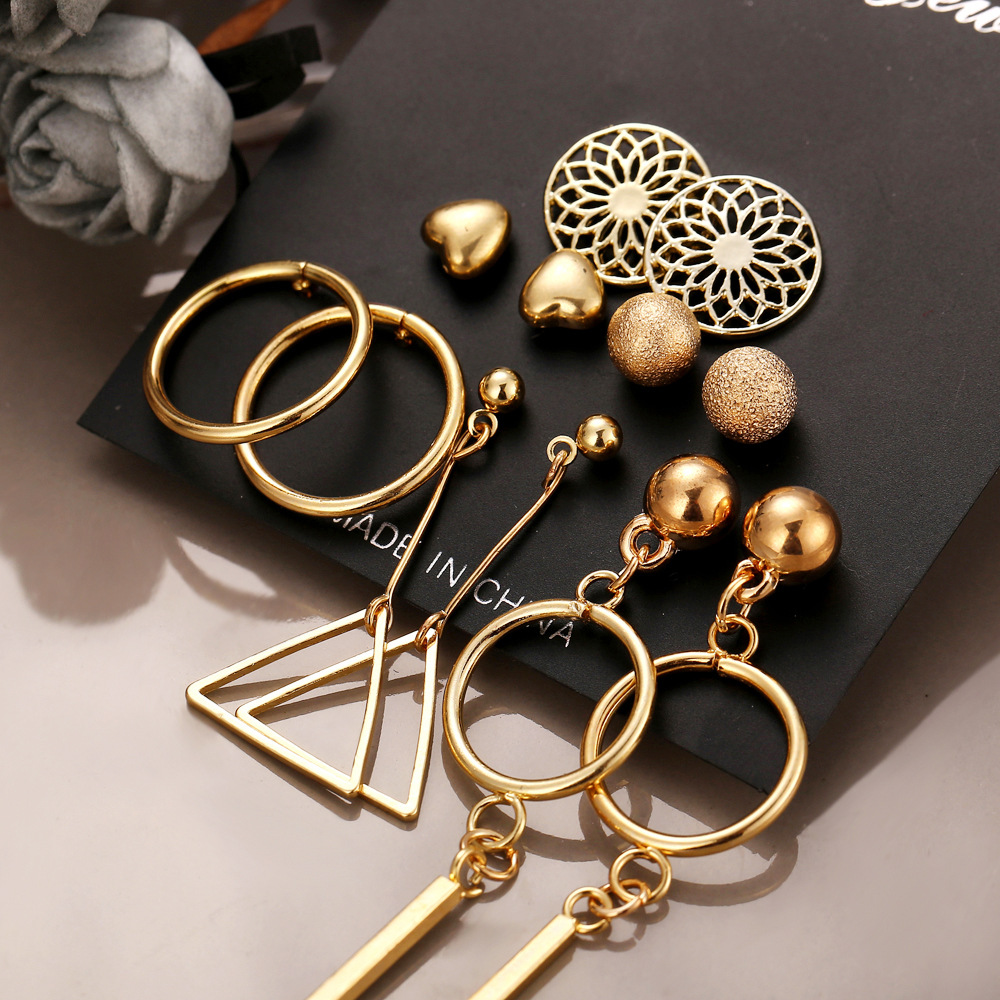 Alloy Fashion Tassel earring  (Alloy 7 pairs with GFO04-01)  Fashion Jewelry NHPJ0396-Alloy-7-pairs-with-GFO04-01