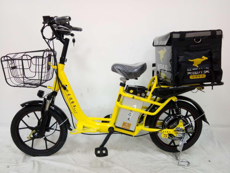 鹰之杰外卖送餐电动车 双电池电动自行车 锂电车厂家直销批发外贸