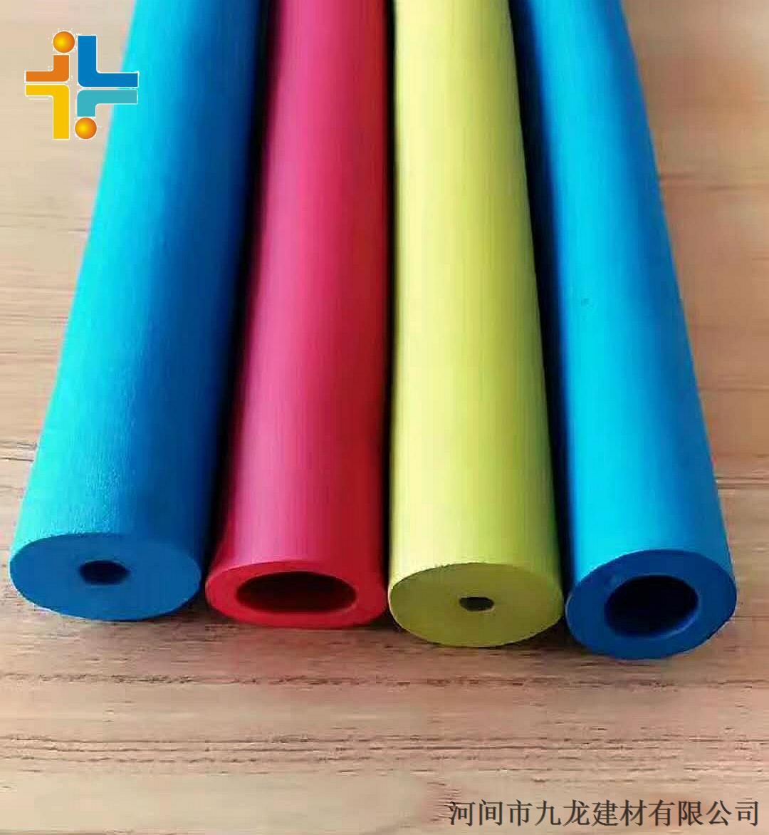 Jnbr彩色減震橡塑發泡管 防滑黑色光面橡塑保溫管 復合鋁箔橡塑管