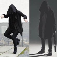中長款潮牌薄款暗黑系同款衛衣巫師兜帽衫嘻哈外套披風衣斗篷外套