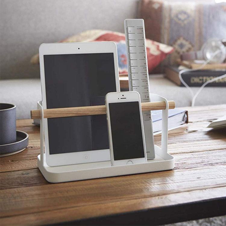 日式簡約客廳茶幾遙控器收納盒手機平板收納架桌面整理置物架