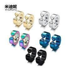 韩版时尚个性潮男学生黑色磁铁吸石无耳洞耳钉跨境热卖亚马逊套装
