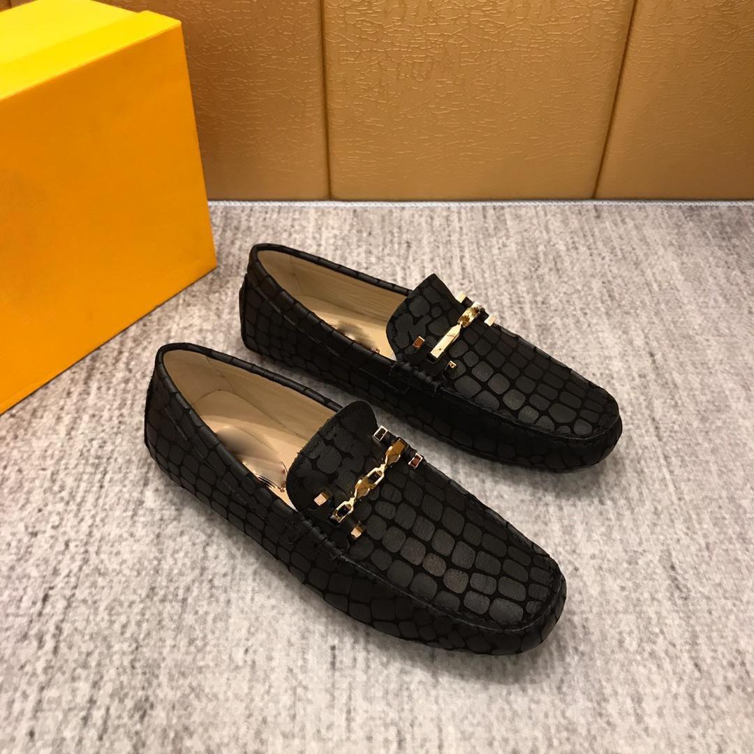 欧洲站潮牌豆豆鞋男韩版真皮百搭个性鳄鱼纹商务休闲皮鞋潮单鞋