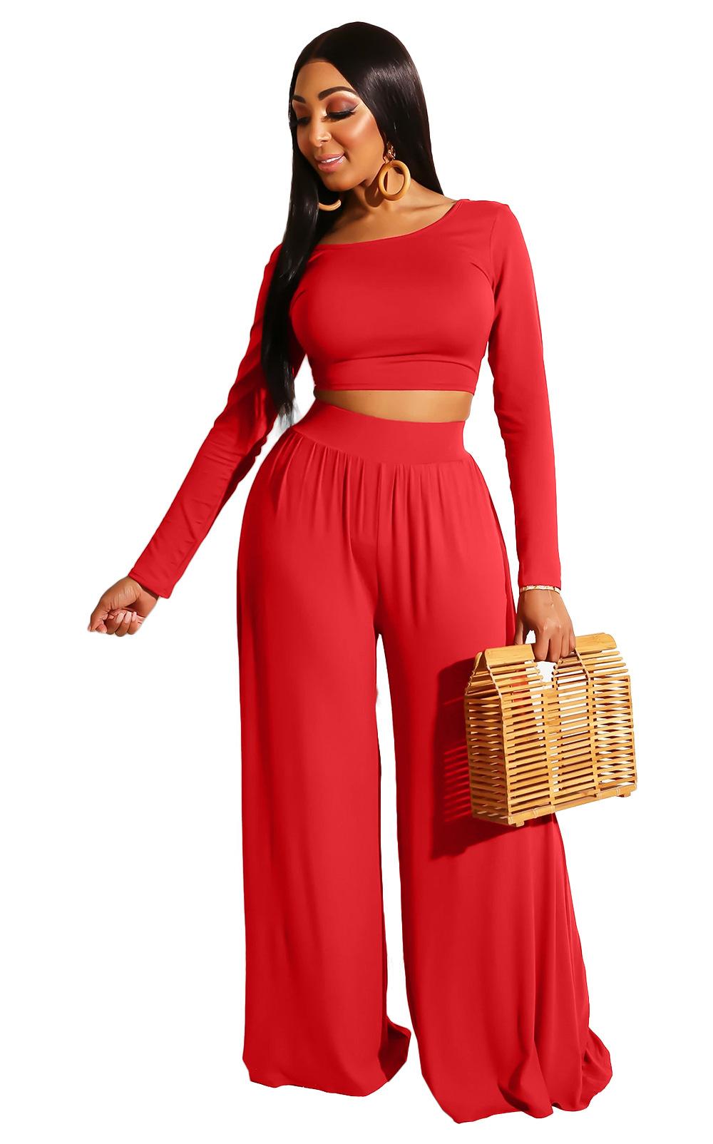 sexy sequined long-sleeved multicolor long pants set Nihaostyles wholesale clothing vendor NSMDJ75066
