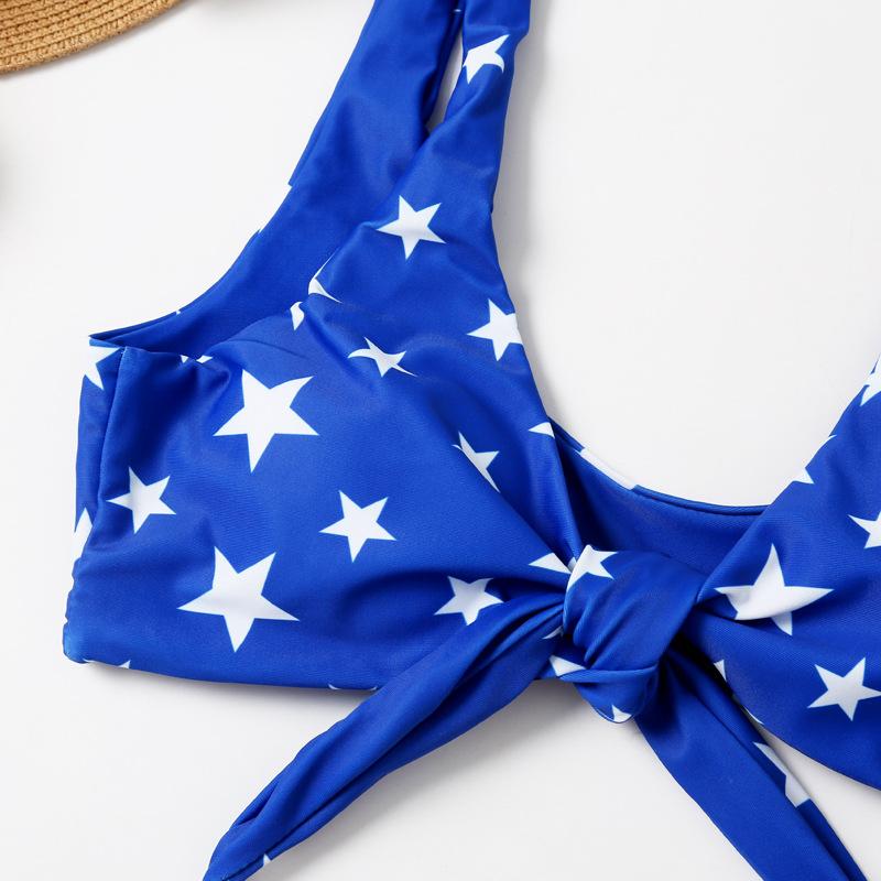 new bikini flag print star knotted sexy bikini NSHL3318