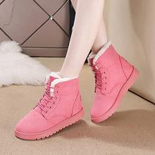厂家直销批发冬季新款雪地靴女短靴保暖棉鞋系带学生韩版厂家直销