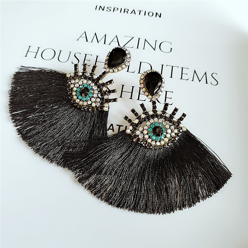 Earrings wholesale fashion personality exaggerated multicolor long fringed NHVA185997