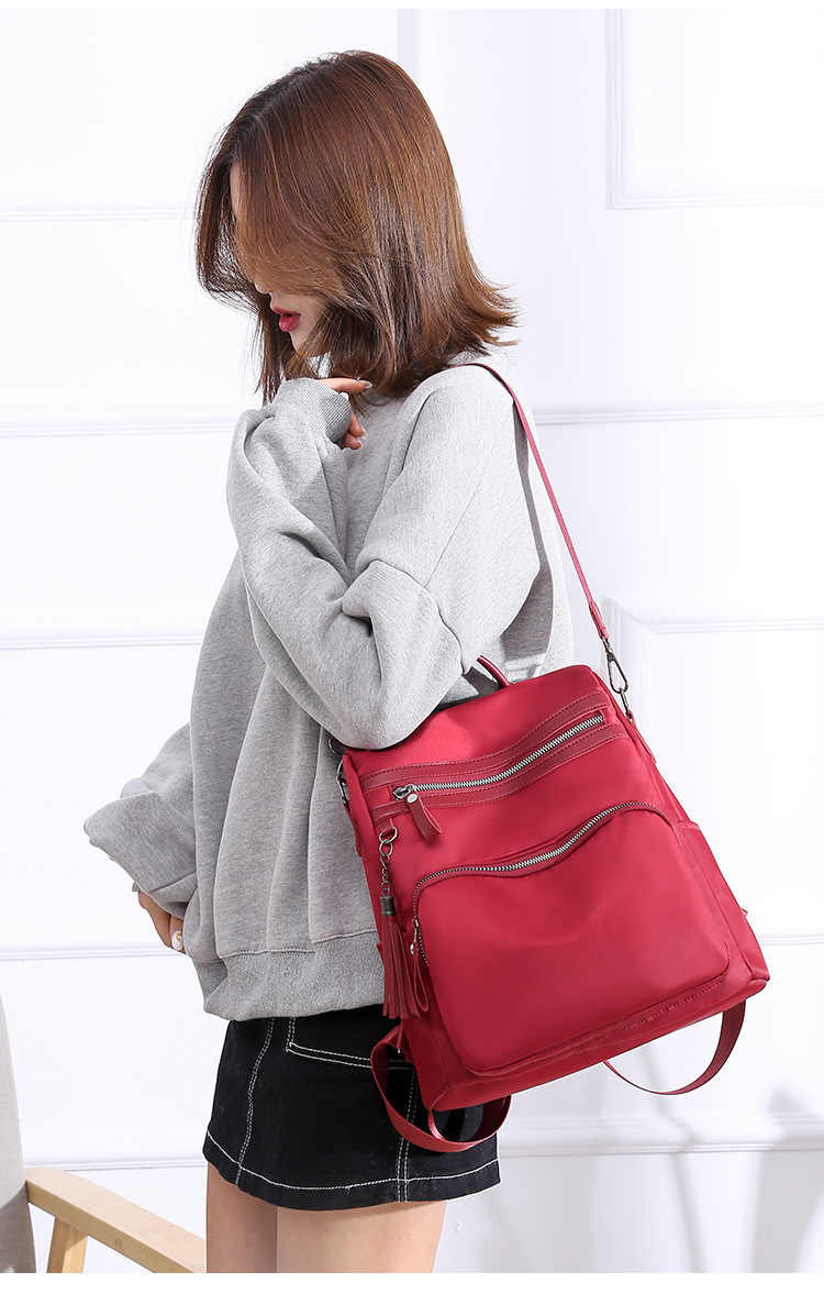 New style retro tassel backpack anti-theft travel backpack Messenger bag XC190420118590
