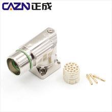M23彎頭插座信號西門子電機插座伺服電機座子4,6,7,9芯