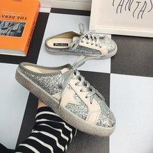 懒人包头半拖鞋女2019新款平底韩版学生外穿百搭星星小脏鞋女脏脏