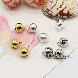DIY jewelry accessories pure copper bells 6mm/8mm/10mm gold/silver/white K color