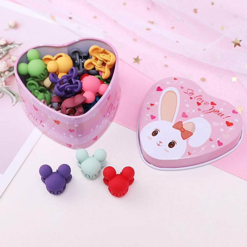 Cute girl baby love boxed cartoon hair clip small grab clip sweet girl side clip hair accessories wholesale nihaojewelry NHNA230013