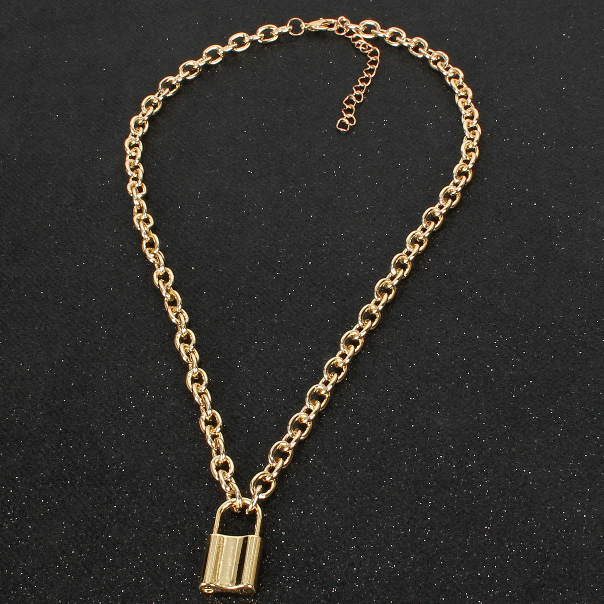 Lock pendant women's simple necklace necklace alloy necklace NHCT185769