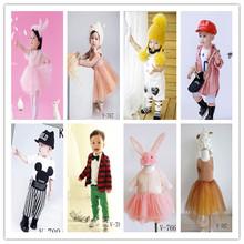 2018儿童摄影服装新款批发韩版影楼儿童拍照服?#25991;信?#31461;1-2岁套装