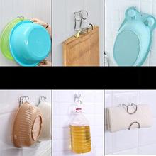 Đáng tin cậy dán phòng tắm nhà bếp bằng thép không gỉ chậu rửa móc phòng tắm liền mạch móc tường miễn phí treo chậu rửa đứng Kệ