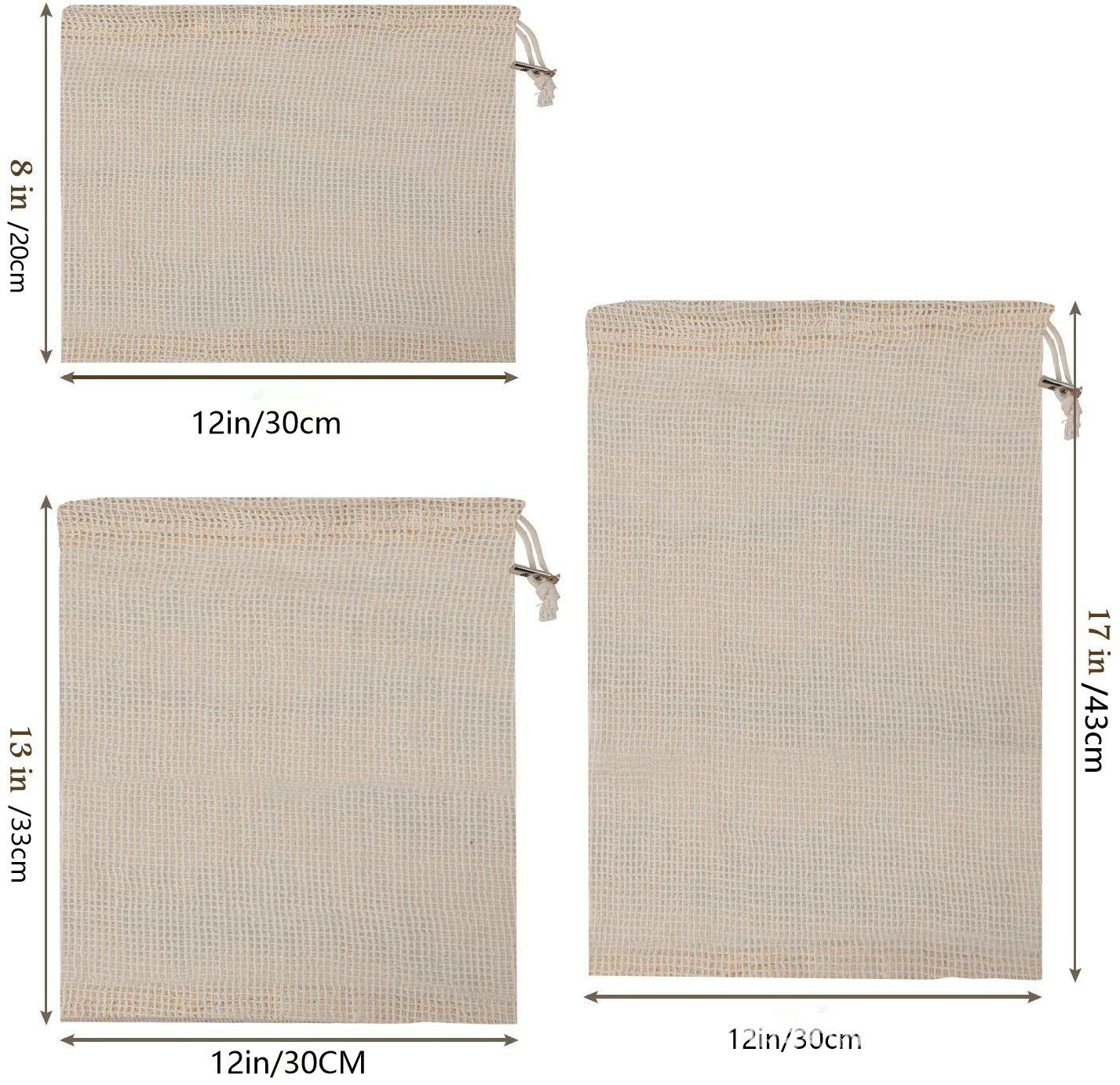 促销特价可以棉网袋米白有机布奇收纳袋棉布袋蔬菜水果