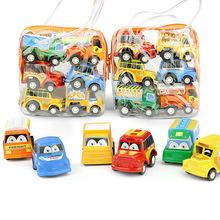 迷你慣性回力兒童玩具車模型批發小汽車淘寶贈品1袋6輛價