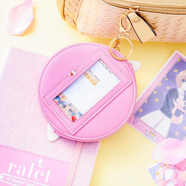 new  fashion cartoon cute short coin purse geometric pattern PU leather DIY wallet headset bag wholesale nihaojewelry NHBN222086
