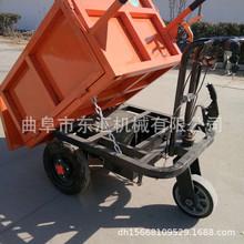 农用电动手推车自卸进电梯小型灰斗拉货车生产厂家载人式翻斗车