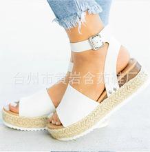 楔形鞋為女性涼鞋高跟鞋加上大小2019年夏天鞋子