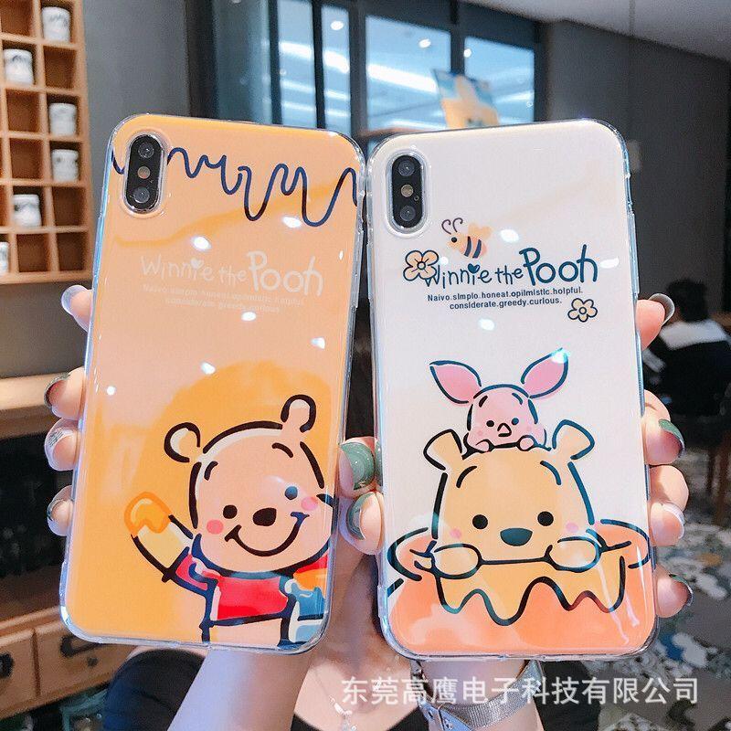 日韓潮流卡通小熊8plus手机壳苹果x适用iPhone6/xs max网红xr软壳