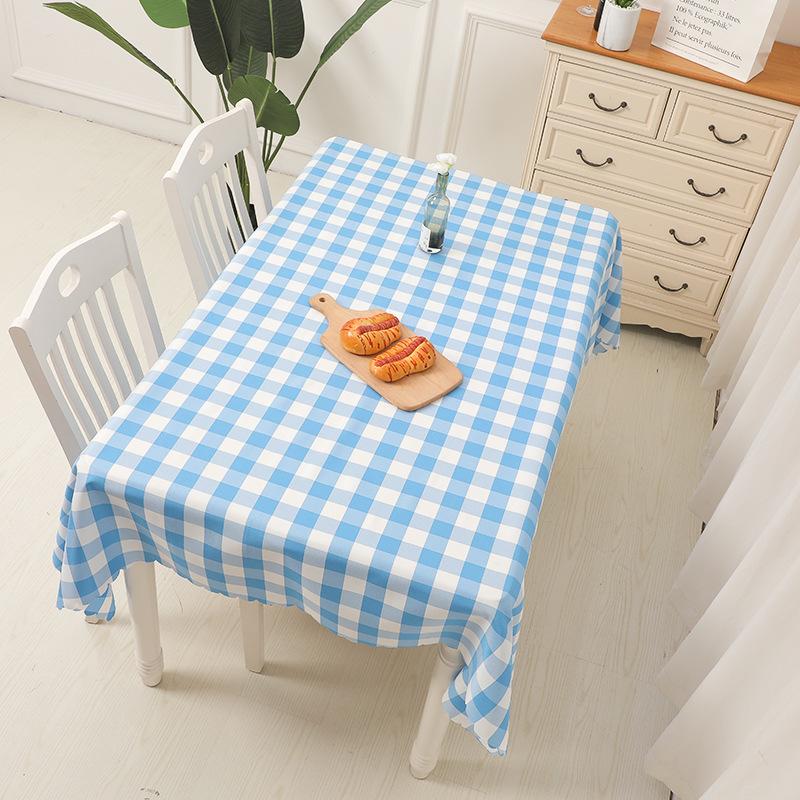 格子桌布长方形茶几布台布野餐布田园酒店民宿简约餐桌布艺欧美式