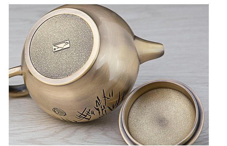 高档锌合金创意茶具6件套商务馈赠礼品