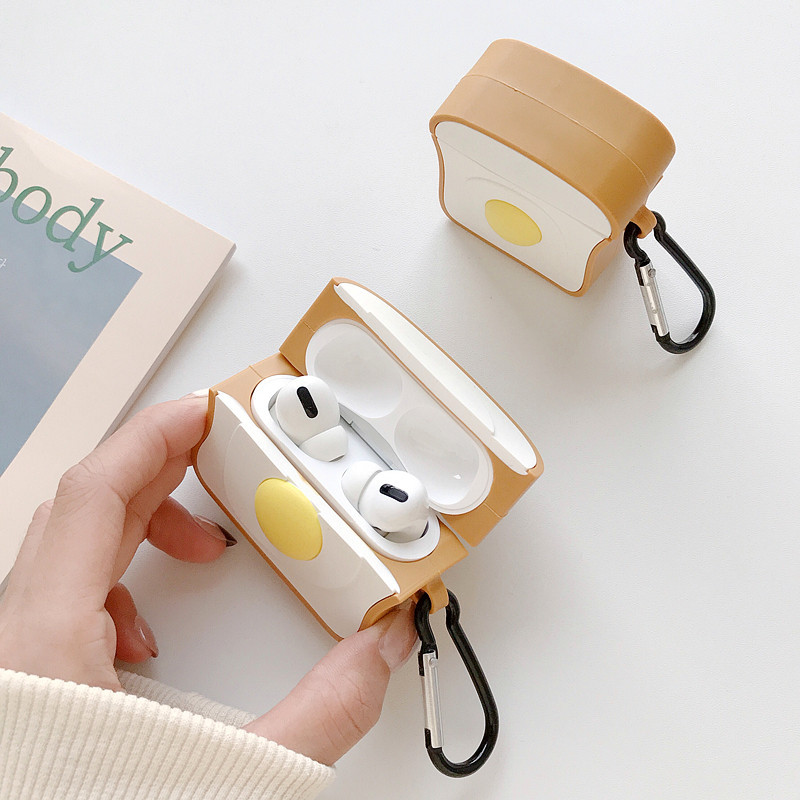 Airpods Pro3 generation headset protective sleeve toast egg for iPhone AirPods 2 wireless Bluetooth headset wholesale nihaojewelry NHFI220721