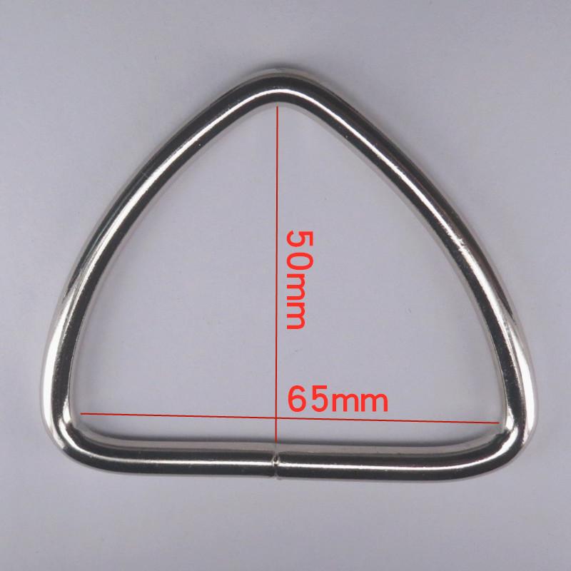 厂家直销包包箱包五金配件金属三角扣 氩弧焊碰焊连接三角环批发