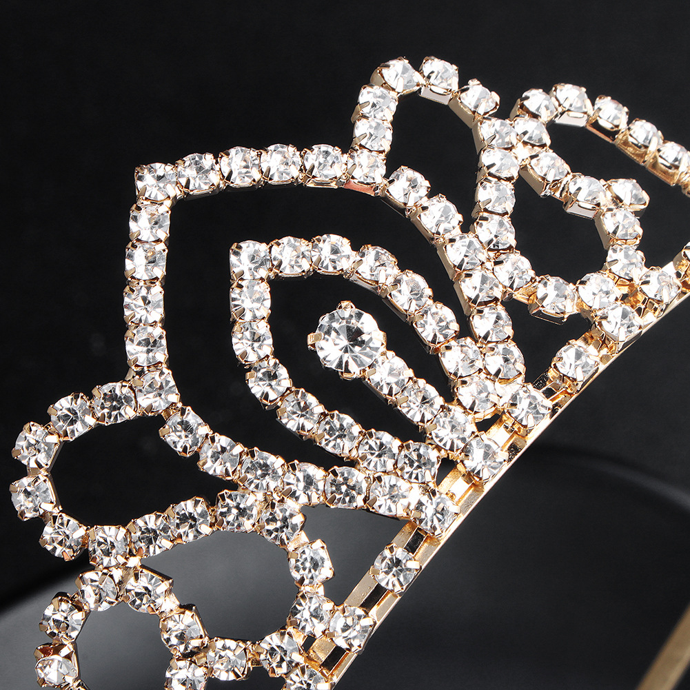 Imitated crystal&CZ Simple Geometric Hair accessories  (Alloy)  Fashion Jewelry NHHS0664-Alloy