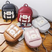 小背包2019日韩个性女包休闲拼色小包手提包单肩斜挎包双肩小书包