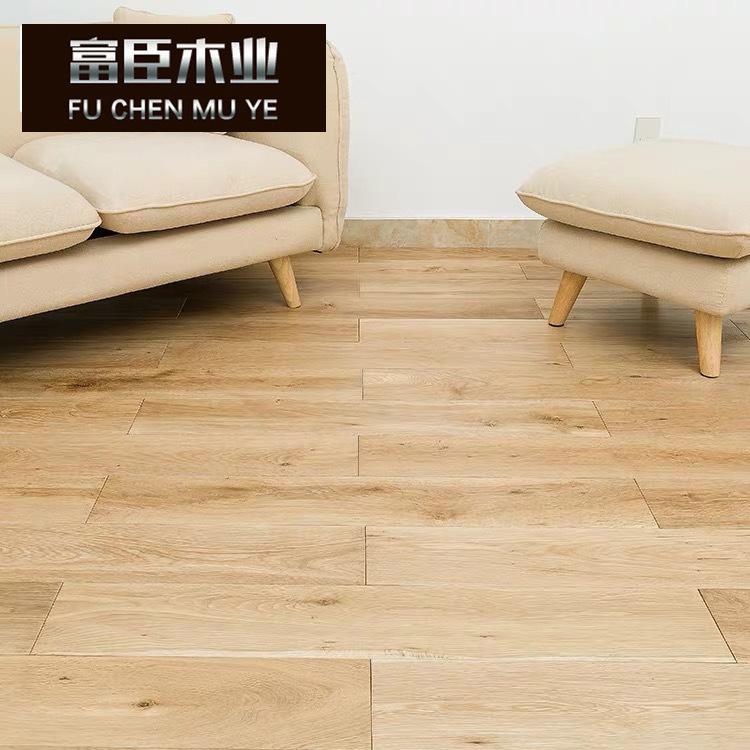 纯实木地板 橡木原木本色UV油 天然结疤艺术修复 个性复古
