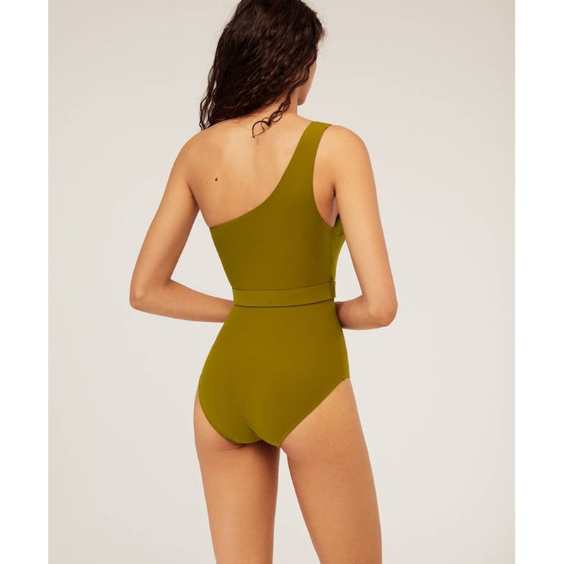 One-piece swimsuit women's new one-piece bikini one-shoulder belt swimwear NHFB196411