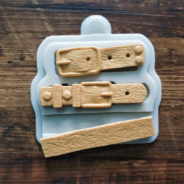 新款手表皮带造型硅胶模具 巧克力蛋糕装饰工具 厨房烘焙配件