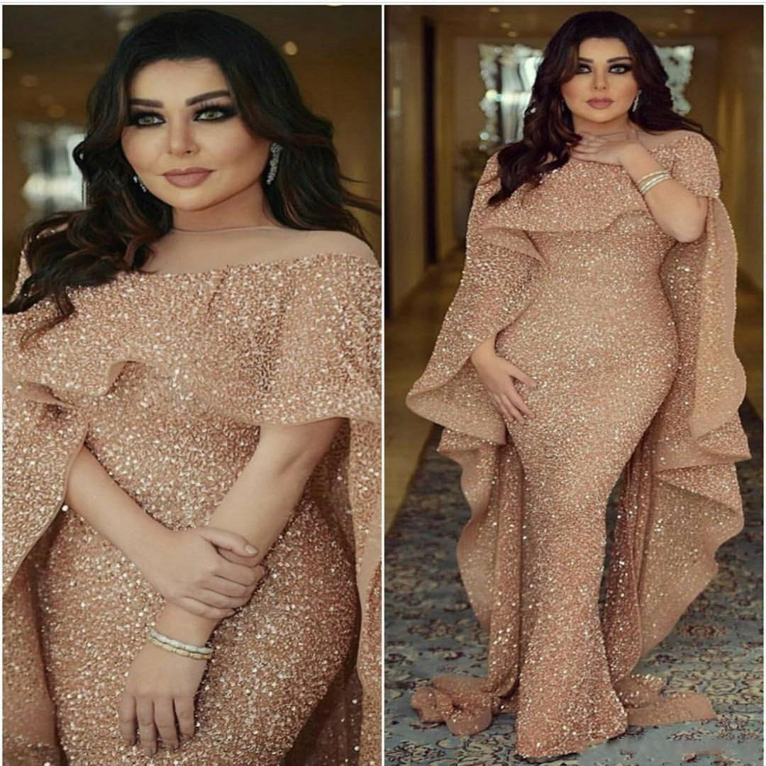 Autumn and winter 2020 new European and American foreign trade women's clothes eBay sexy shawl Sequin Middle East long dress fake two new