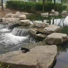 景觀石河道駁岸 假山水景庭院設計 園林造景 庭院設計施工