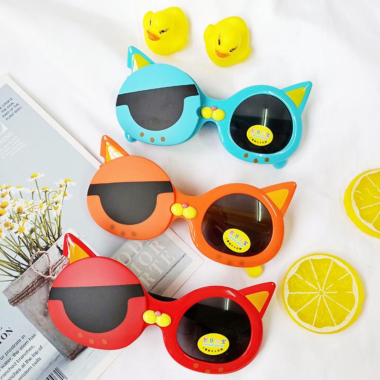 Children's sunglasses boys cute UV protection kids sunglasses silicone polarized tide girls baby sunglasses wholesale nihaojewelry NHBA220404