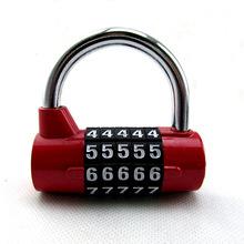 新款5位数字机械u型防盗门金属密码挂锁 行李箱抽屉健身房密码锁