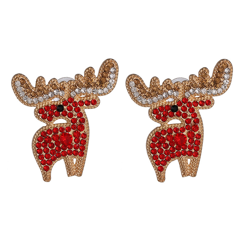 Earrings Female Elk Full Diamond Earrings Christmas Earrings NHJJ190960