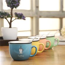 创意小杯子时尚水杯简约马克杯儿童陶瓷牛奶杯早餐杯礼品定制logo