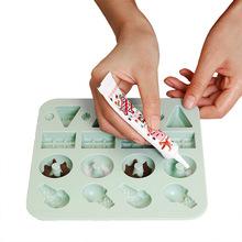 日式烘培DIY兒童心形卡通糖果蛋糕棒棒糖巧克力硅膠模具輔食冰模